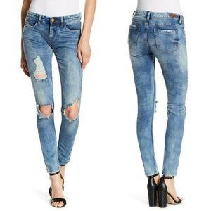 BlankNYC Destructed Skinny Jeans.